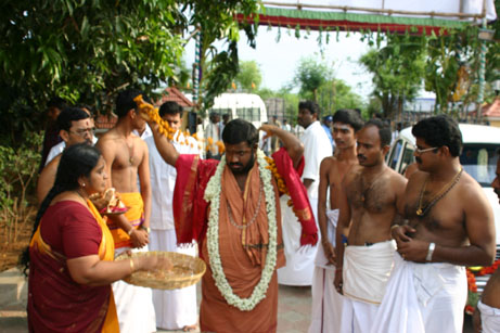 15 Amma is Garlanded before the Procession
