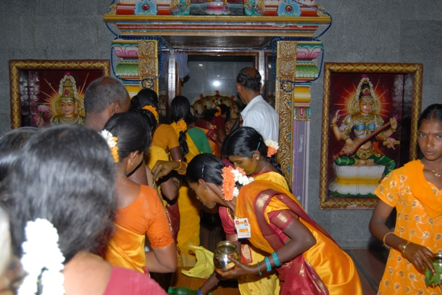 One by one they did the abhishekam