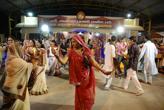 Kolaattam Dance Program performed at the Sripuram by the Ambika Mitra Mandal from Vellore