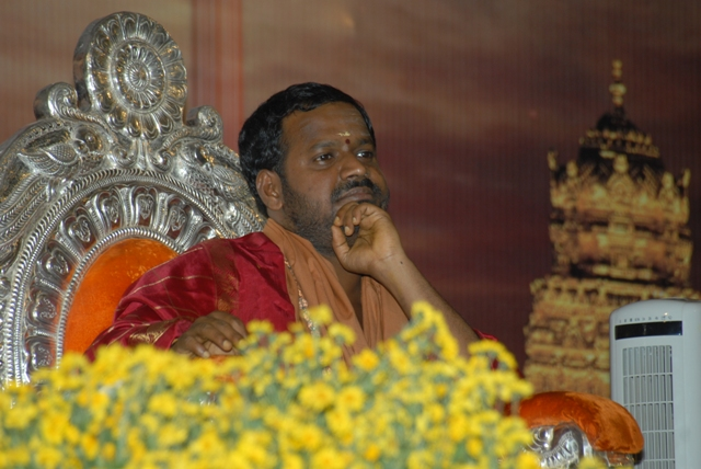 Beloved Amma listens to the bhajans