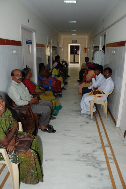 Patients waiting to see the doctor
