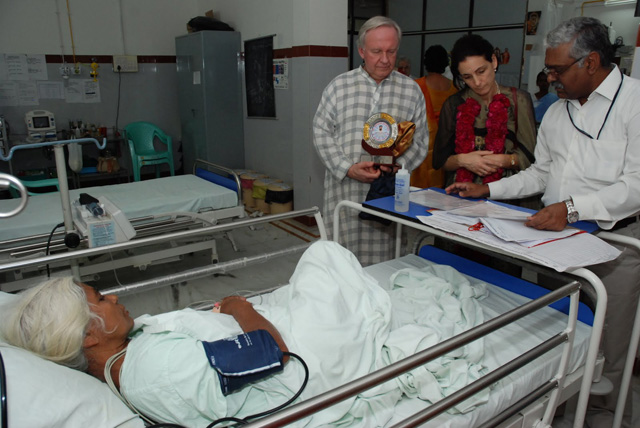 Hospital Doctor goes through patient's chart