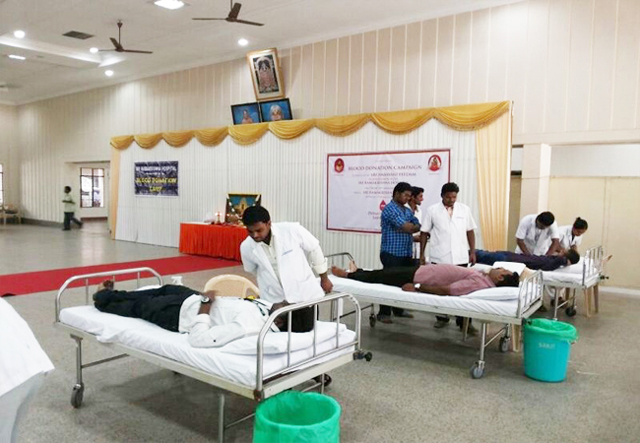 Donors made comfortable in readiness to donate blood