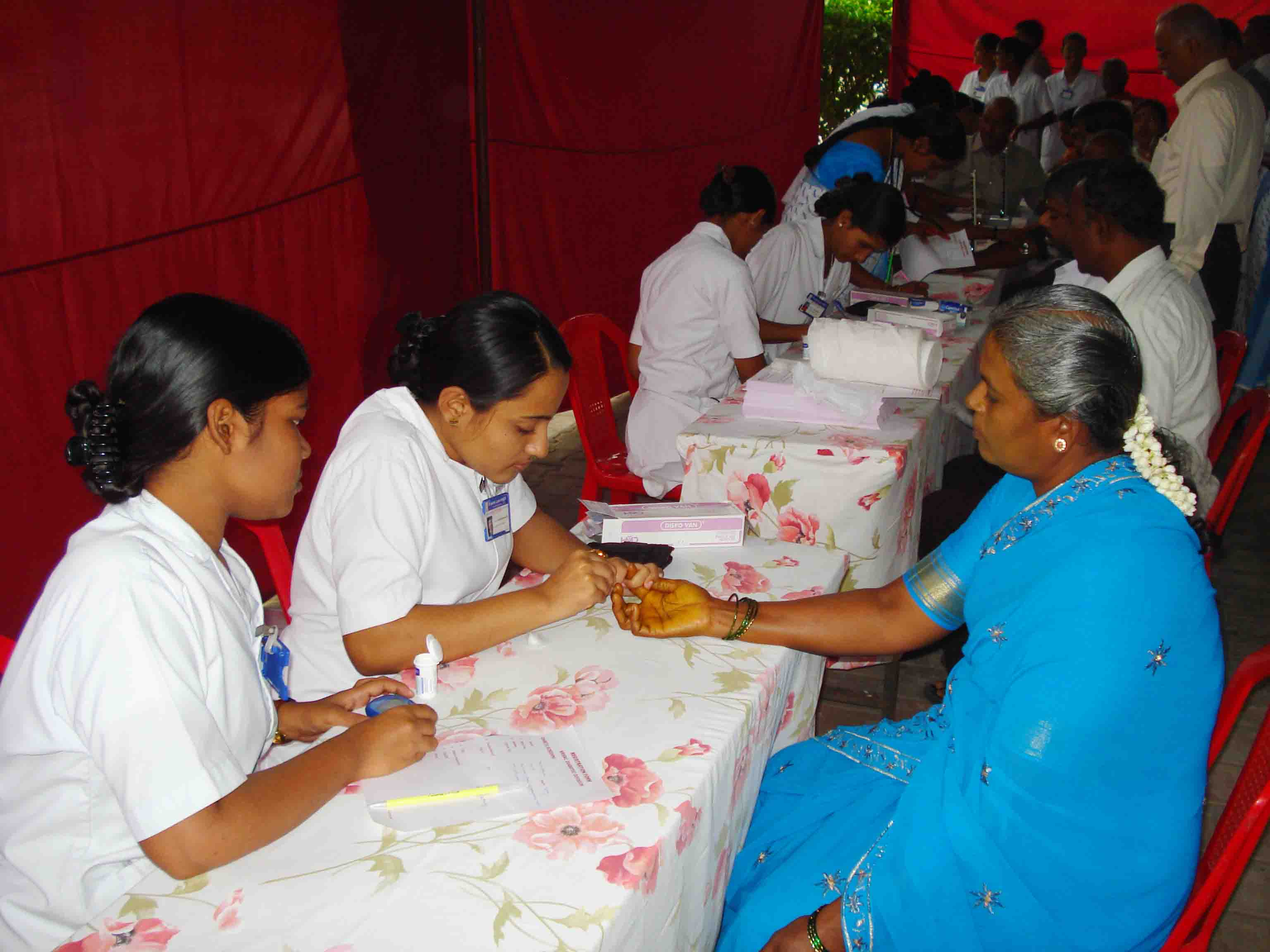 Patients screened for early detection of Diabetes