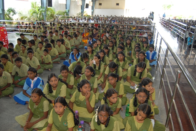 Students attend the function