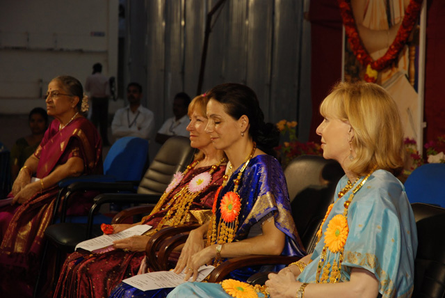 Chief Guests listen to the Directors speech