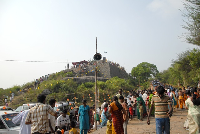 Crowds of devotees came to witness the special event