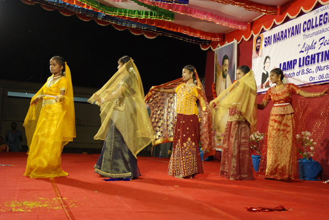 Student nurses perform a dance