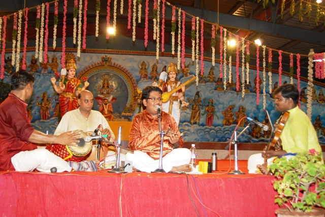 Master Saisharan engrossed in the melody