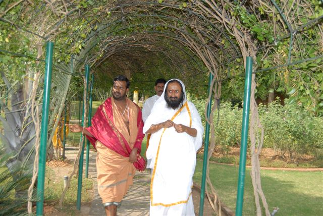Beloved Amma and Guruji after the tour of the Sripuram