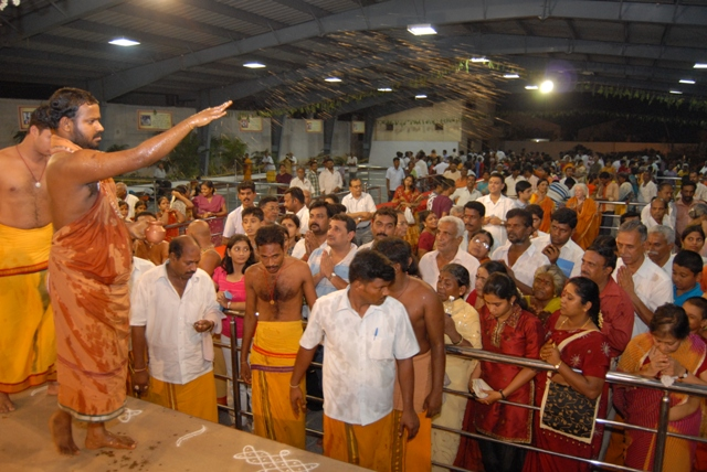 Beloved Amma blesses the crowd