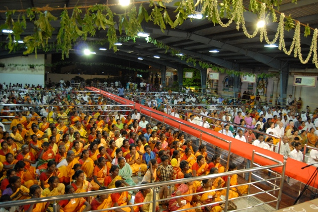 Crowd attending the Yagam