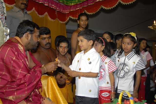 Beloved Amma speaks to young Srinath after his performance