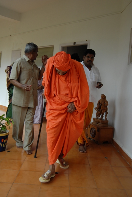 Swamiji walks at the Guest House