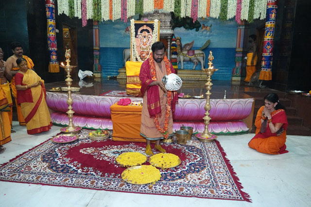 Beloved Amma blesses the malas