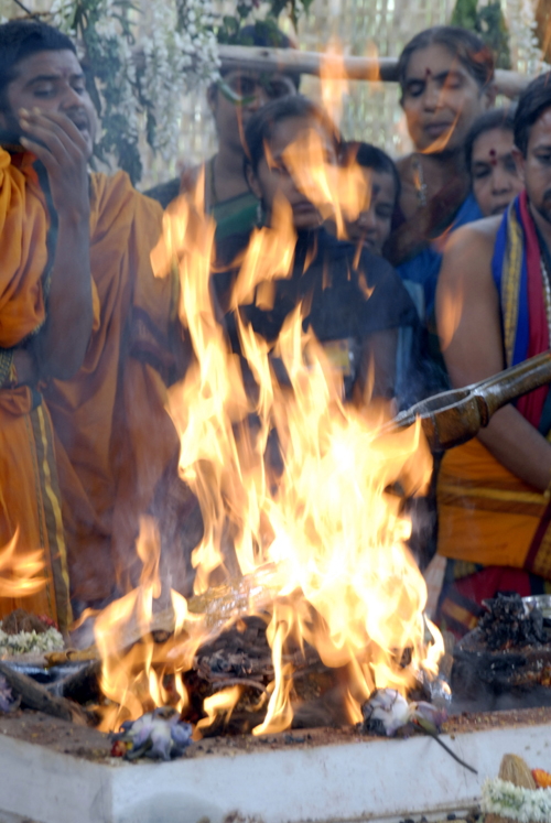 Divine in the form of agni - fire