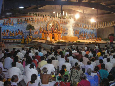 The gathering witness the Yagam