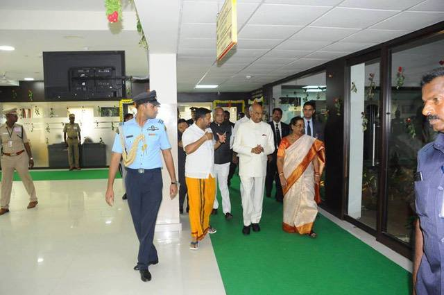 The President visits the Sri Narayani Hospital accompanied by Dr. N. Balaji