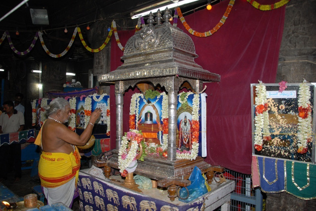 Maha Archana performed by the priest