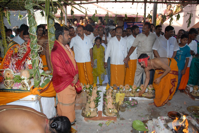 Beloved Amma blesses the puja