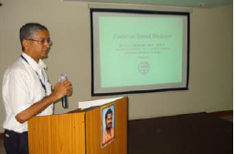 Dr. Abraham gives his presentation
