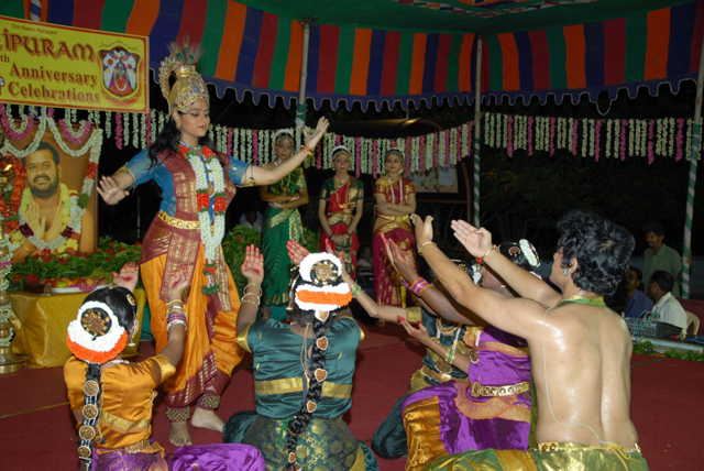 Dance portraying Lord Krishna's blessings