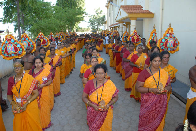 Devotees in the Procession