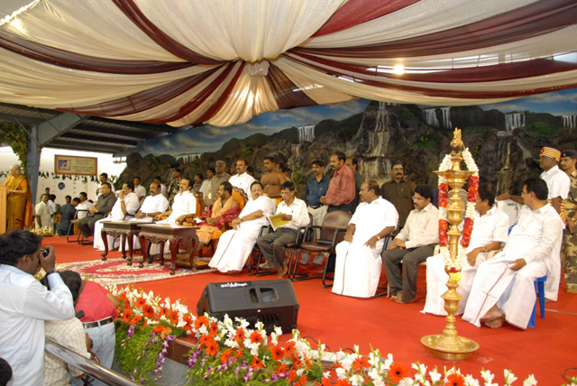 Dignitaries and invited guests seated with Sri Sakthi Amma