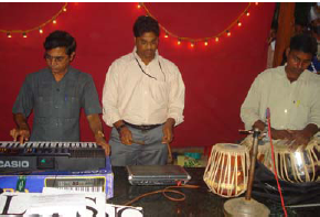 Members of staff played their instruments