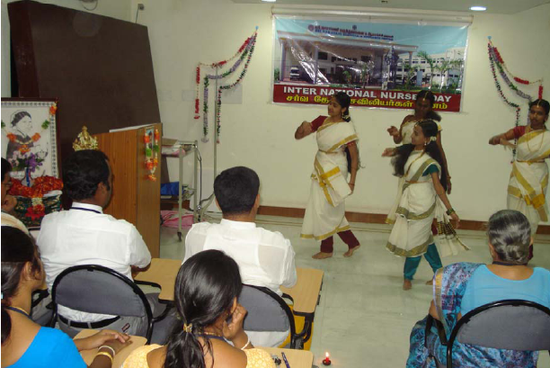 Students perform a dance