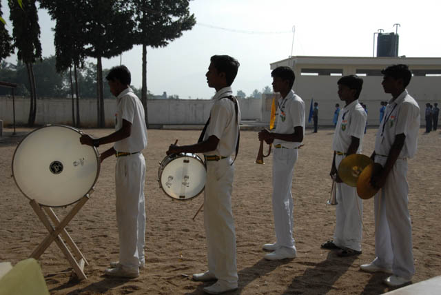 Drums by the school students