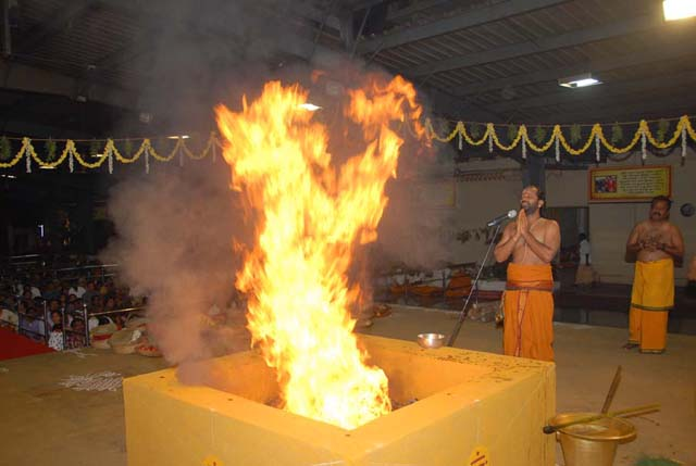Priest chants the Vedic Mantras