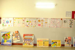 Poster presentations on AIDS by students