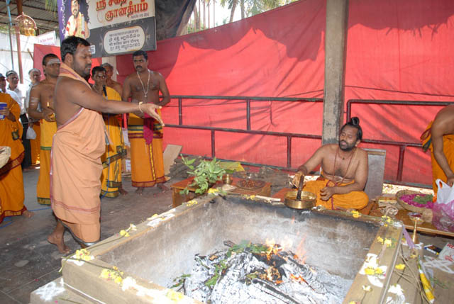 Sri Sakthi Amma does the archana
