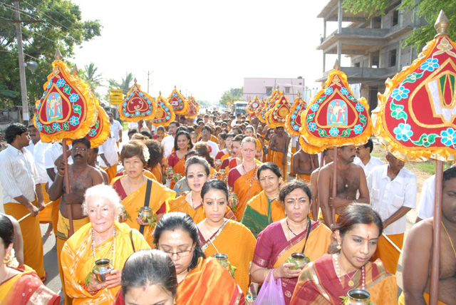Devotees from all over the world came to participate in the celebrations