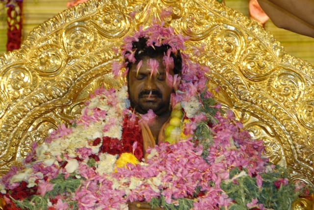 Flower Abhishekam to Sri Sakthi Amma