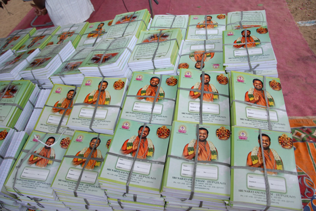 Notebooks to be distributed to the students