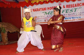 Children of the Hospital staff entertain the gathering