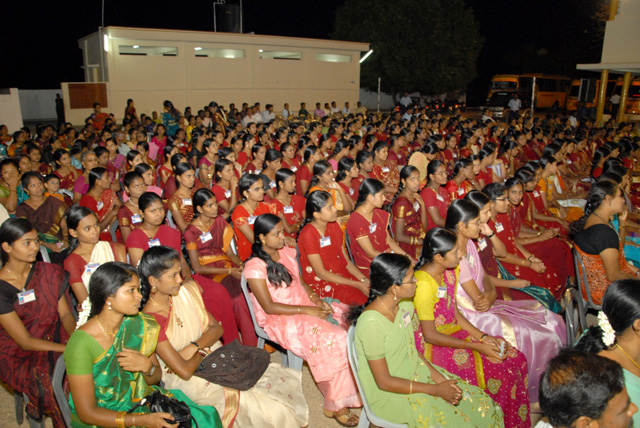 Nurses and nursing students attend the function