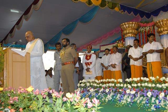 The Governor of Tamil Nadu addresses the gathering