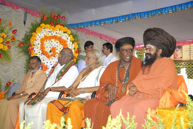 Priests from various temples attend the celebrations