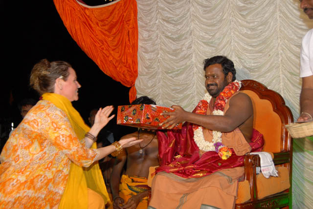 Winner receives a prizes from Sri Sakthi Amma