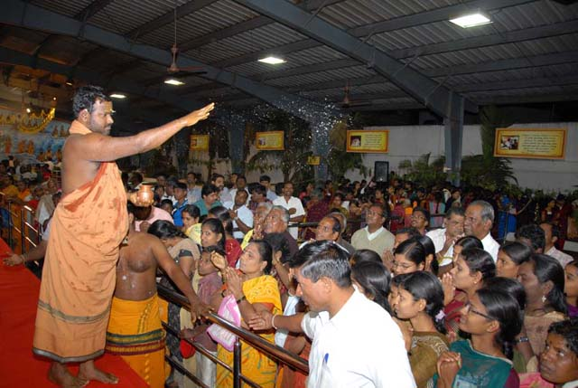 Beloved Amma blesses all the devotees