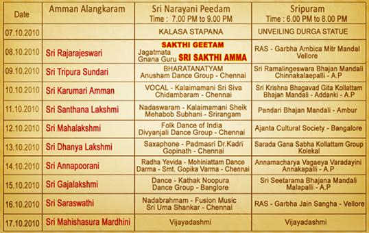 navarathri Program