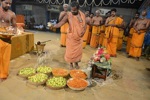 Beloved Amma Blesses the offerings