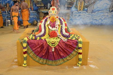 Beautifully dressed Goddess in the Yagam