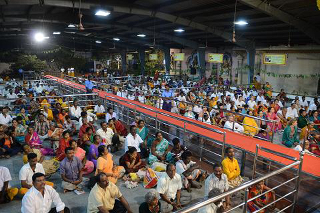 Large gathering of devotees witness the Full Moon Puja