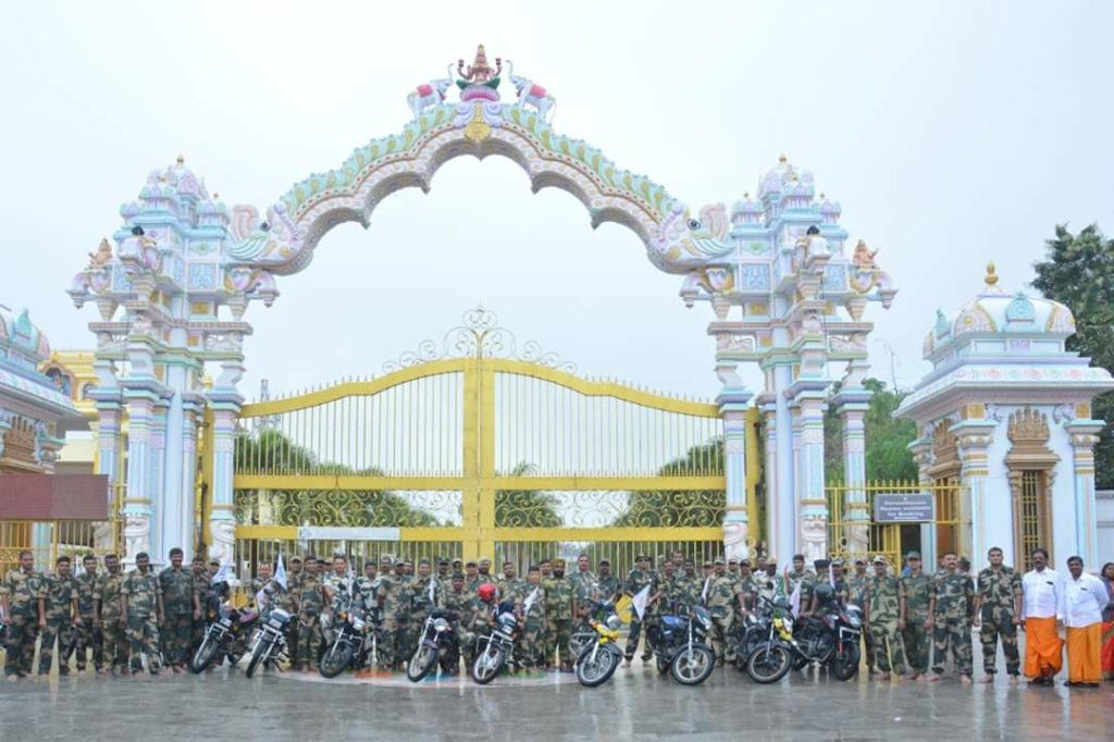 Indian Soldiers Public Awareness Motor Bike Rally